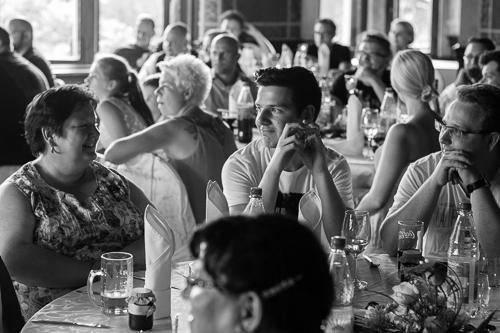 Gäste der Hochzeit auf Schloss Püchau